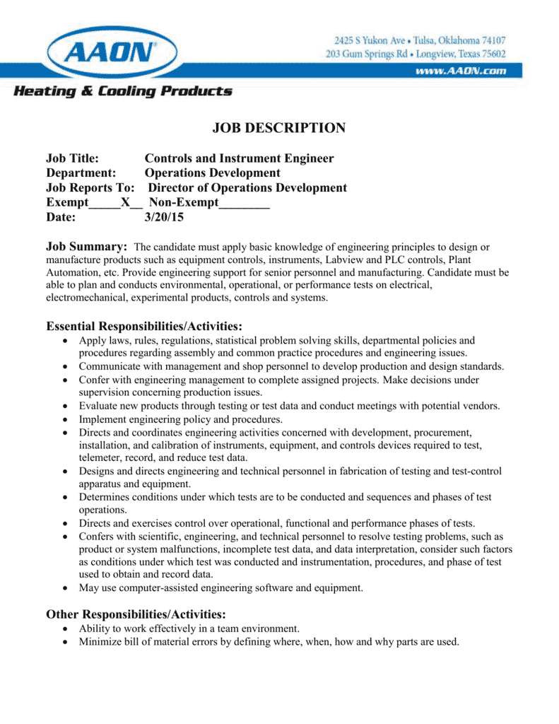 instrument-engineera-job-responsibilities