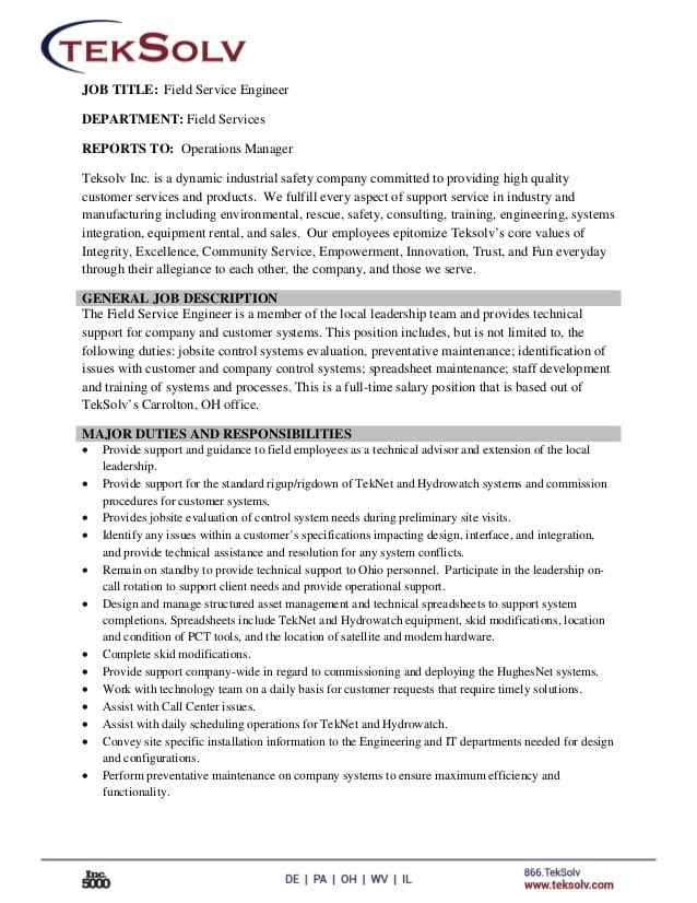 customer-service-engineer-job-responsibilities