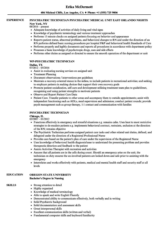 psychiatric-technician-job-responsibilities