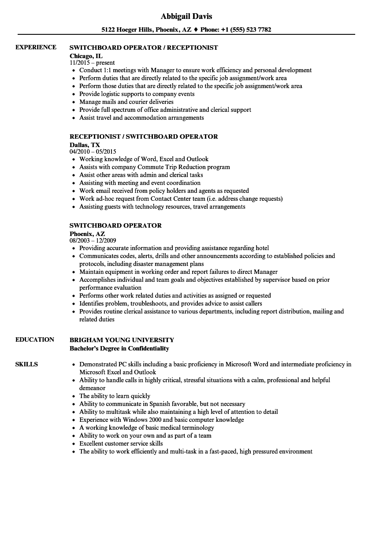 switchboard-operator-receptionist-trainee-job-responsibilities