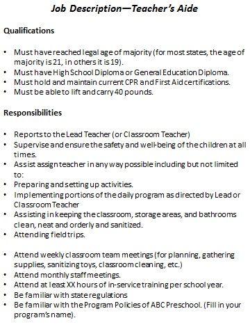 preschool-teacher-job-responsibilities