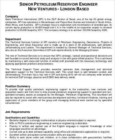 oil-reservoir-engineer-job-responsibilities