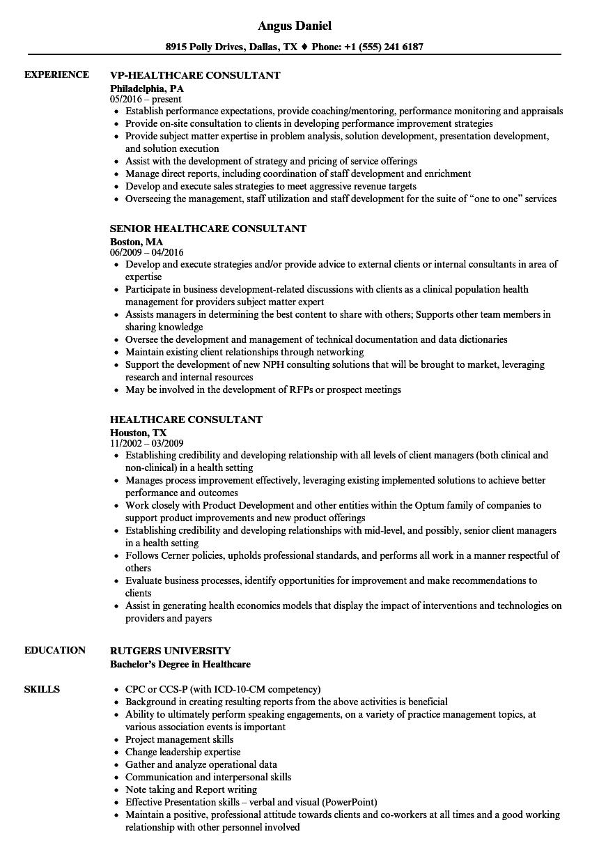 healthcare-consultant-job-responsibilities