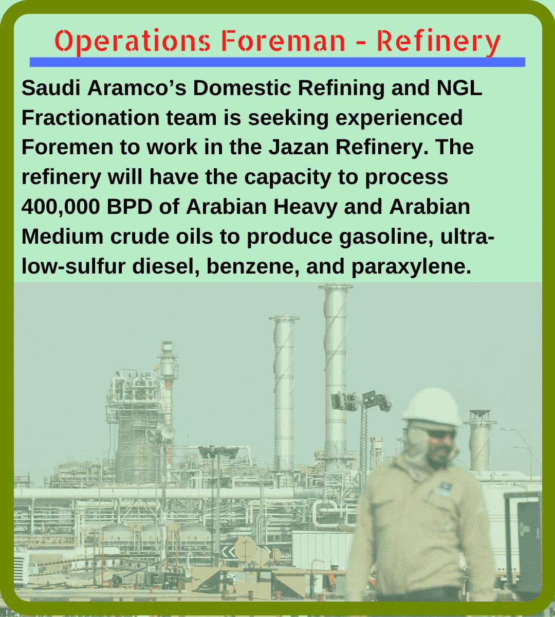 oil-refinery-foreman-responsibilities
