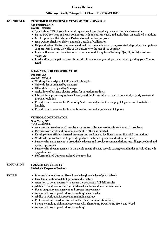 vendor-job-responsibilities