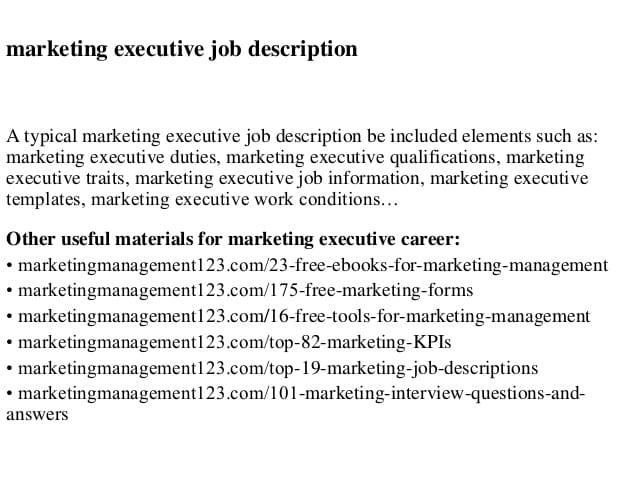 marketing-executive-job-responsibilities