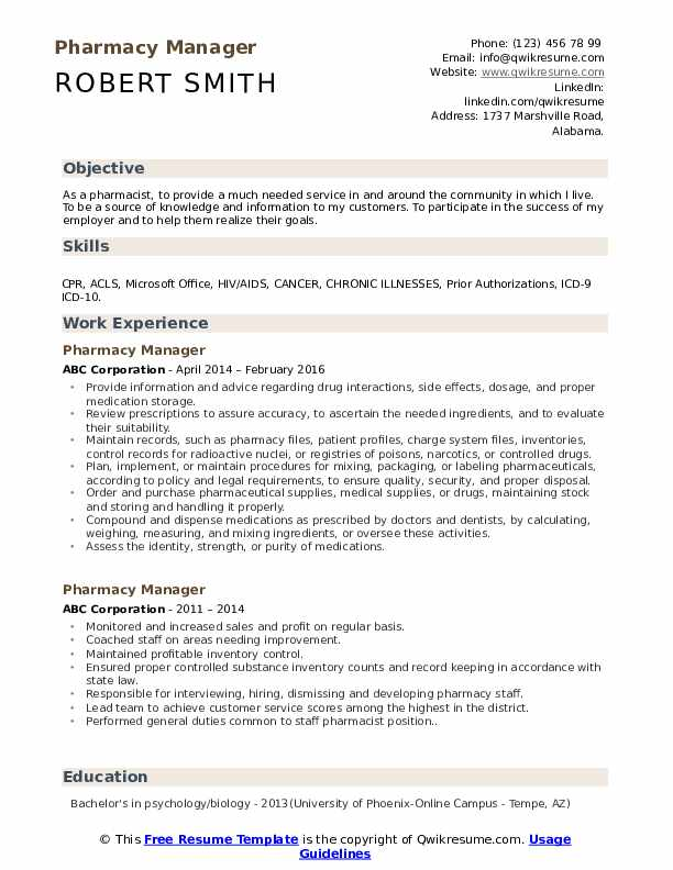 pharmacy-manager-job-responsibilities