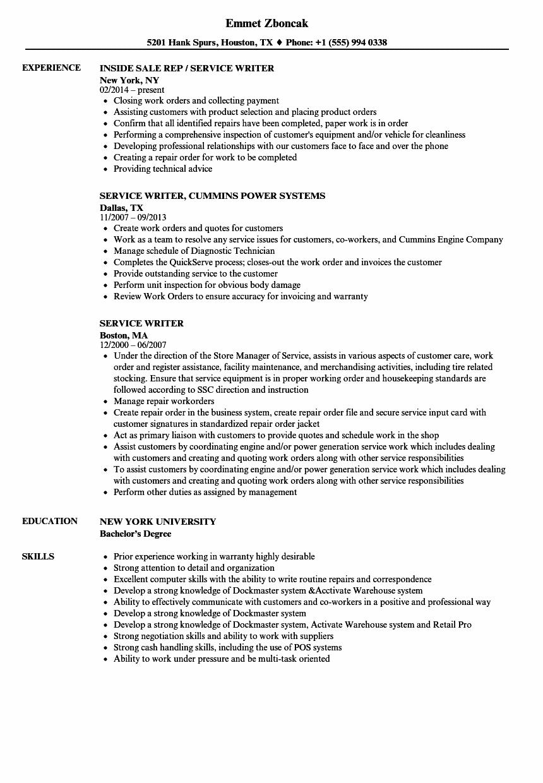 service-writer-job-responsibilities