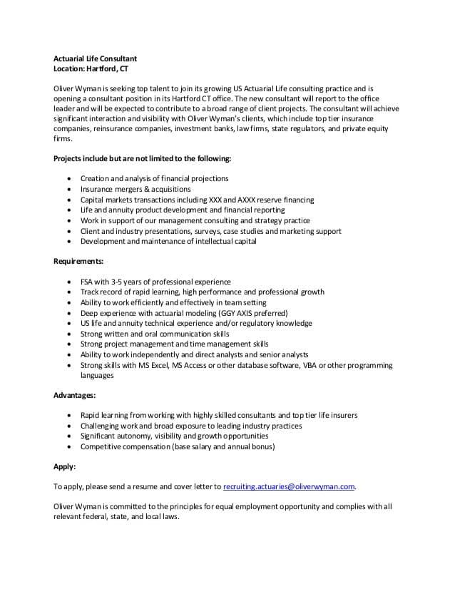 actuarial-consultant-job-responsibilities