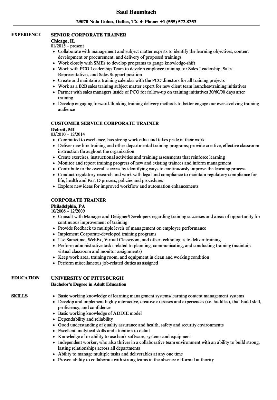 corporate-trainer-job-responsibilities