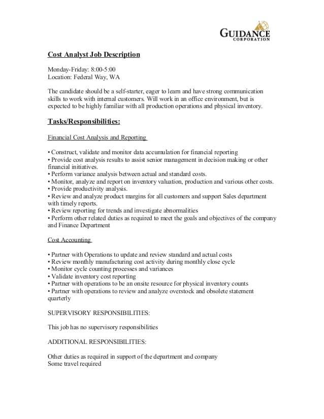 cost-analyst-job-responsibilities