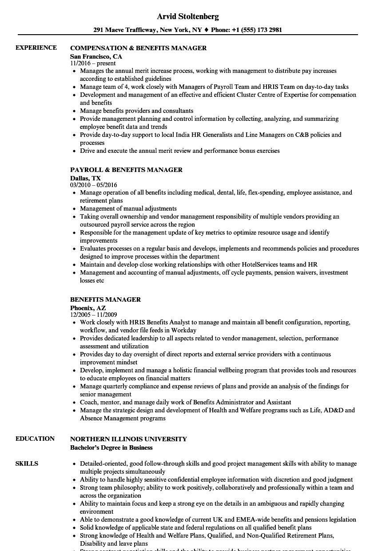 benefits-manager-job-responsibilities