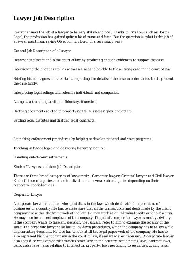 corporate-lawyer-job-responsibilities