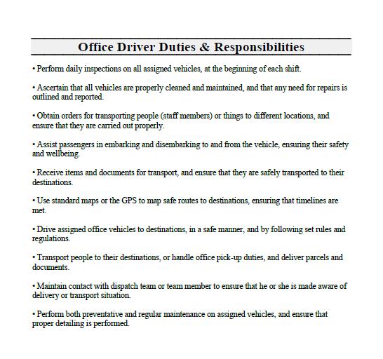 car-driver-job-responsibilities