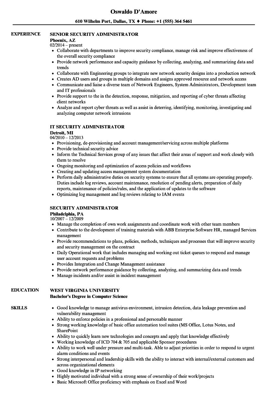 security-administrator-job-responsibilities