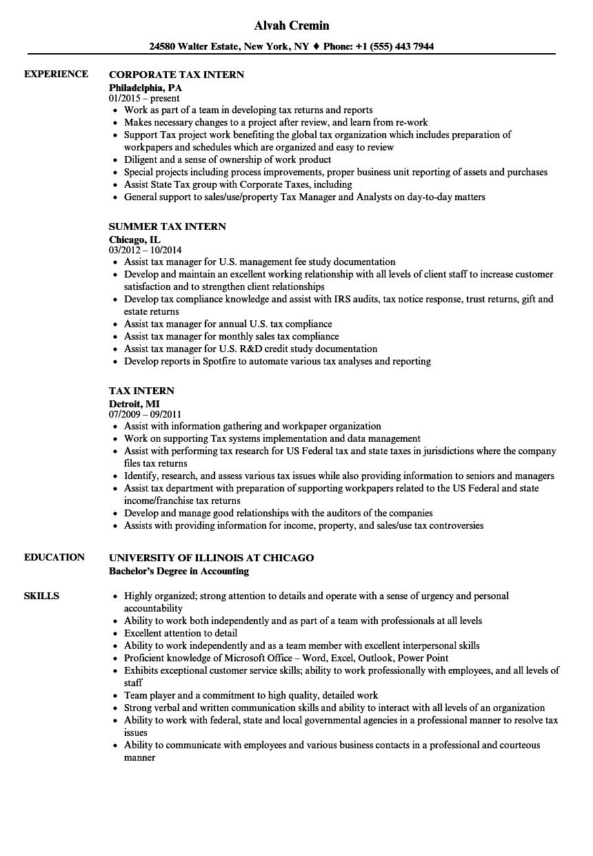 tax-intern-job-responsibilities