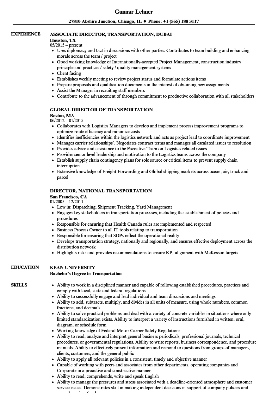 transportation-director-job-responsibilities