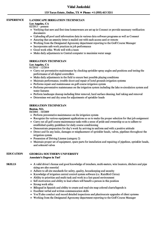 irrigation-technician-job-responsibilities