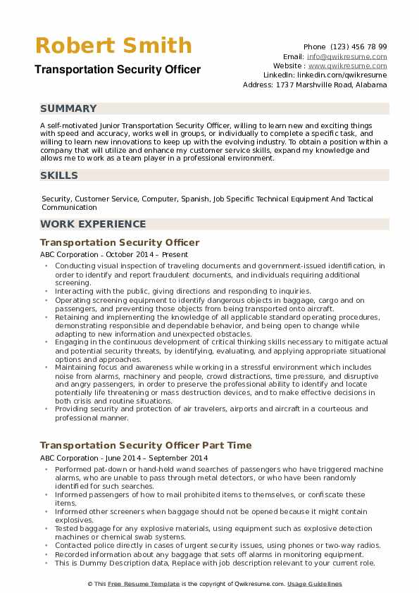 transportation-security-specialist-job-responsibilities