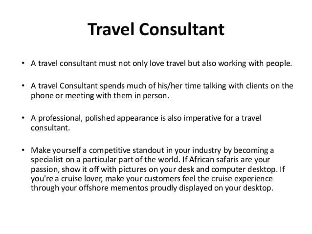 travel-consultant-job-responsibilities